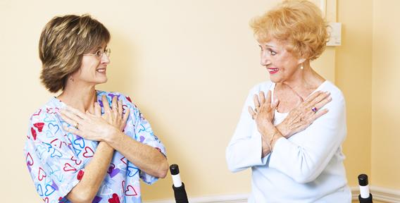 two senior woman